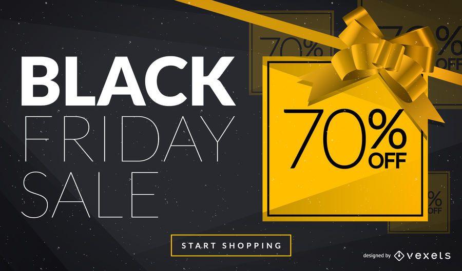 Diseño de anuncio web de Black Friday