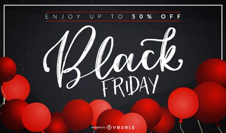 Black Friday Balloons Design