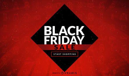 Schwarzer Freitag Verkauf Warnung Design