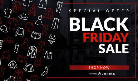 Black Friday Sale Design de roupas