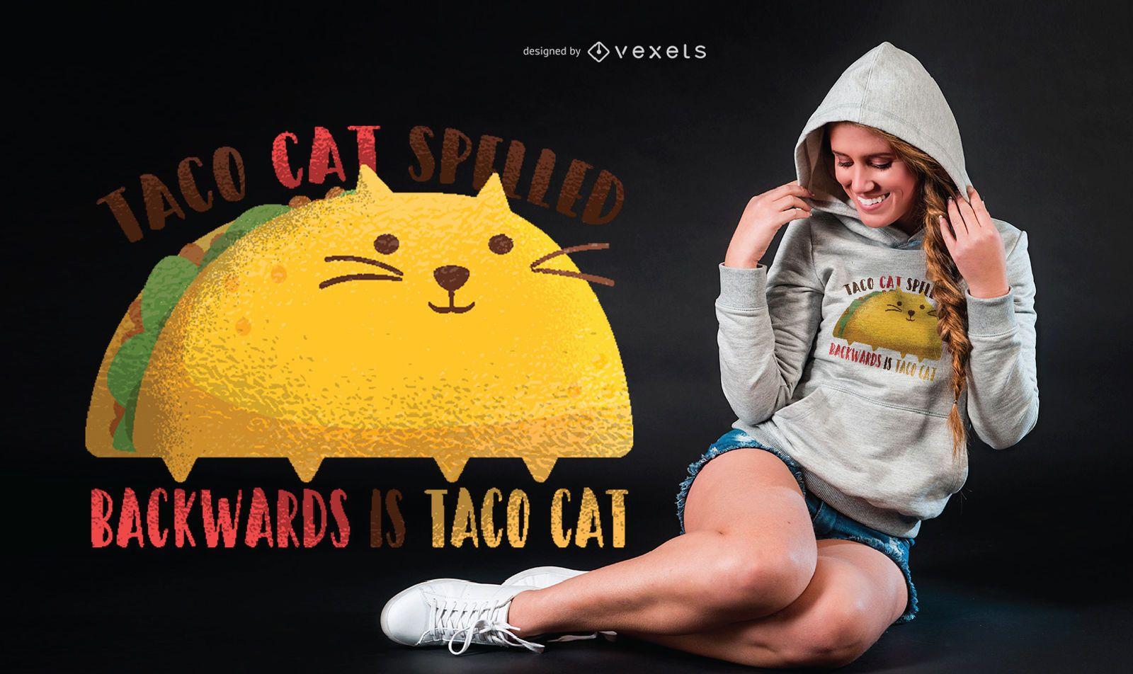 Taco Cat Graphic T-shirt Design