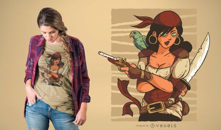 Design de t-shirt pirata feminino