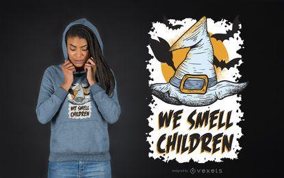 Huele el diseño de la camiseta de los niños