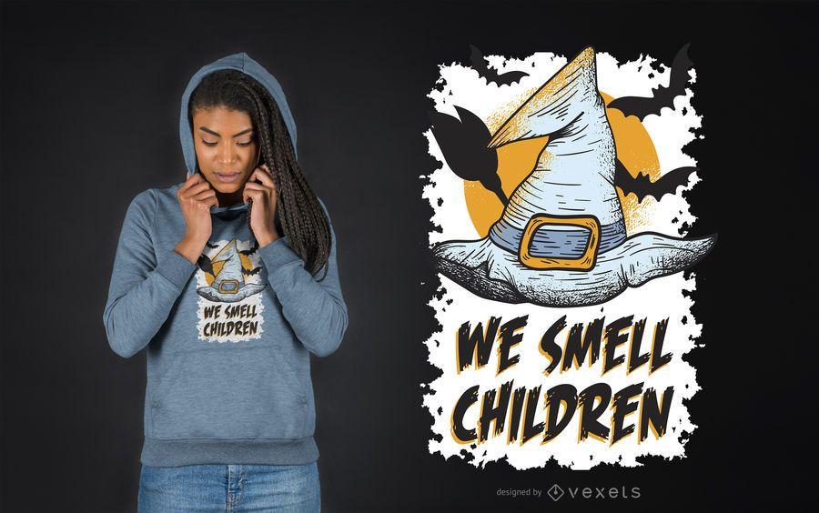 Nós cheiramos crianças design de t-shirt