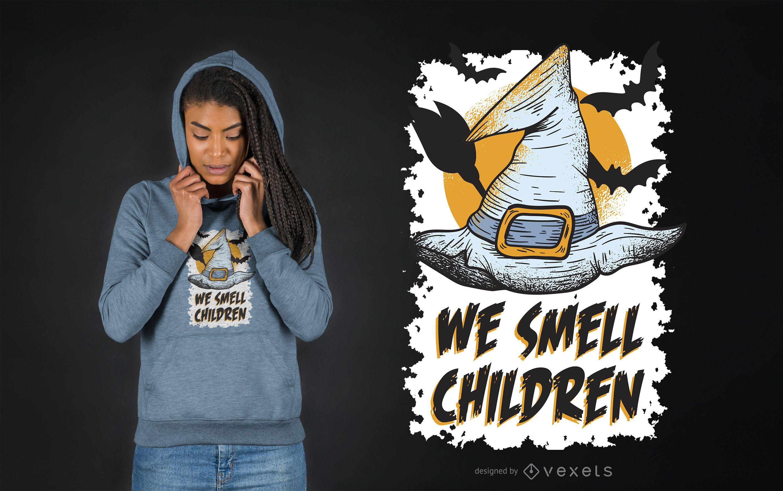 We smell children t-shirt design