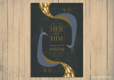 Asian Wedding Card Invitation Design