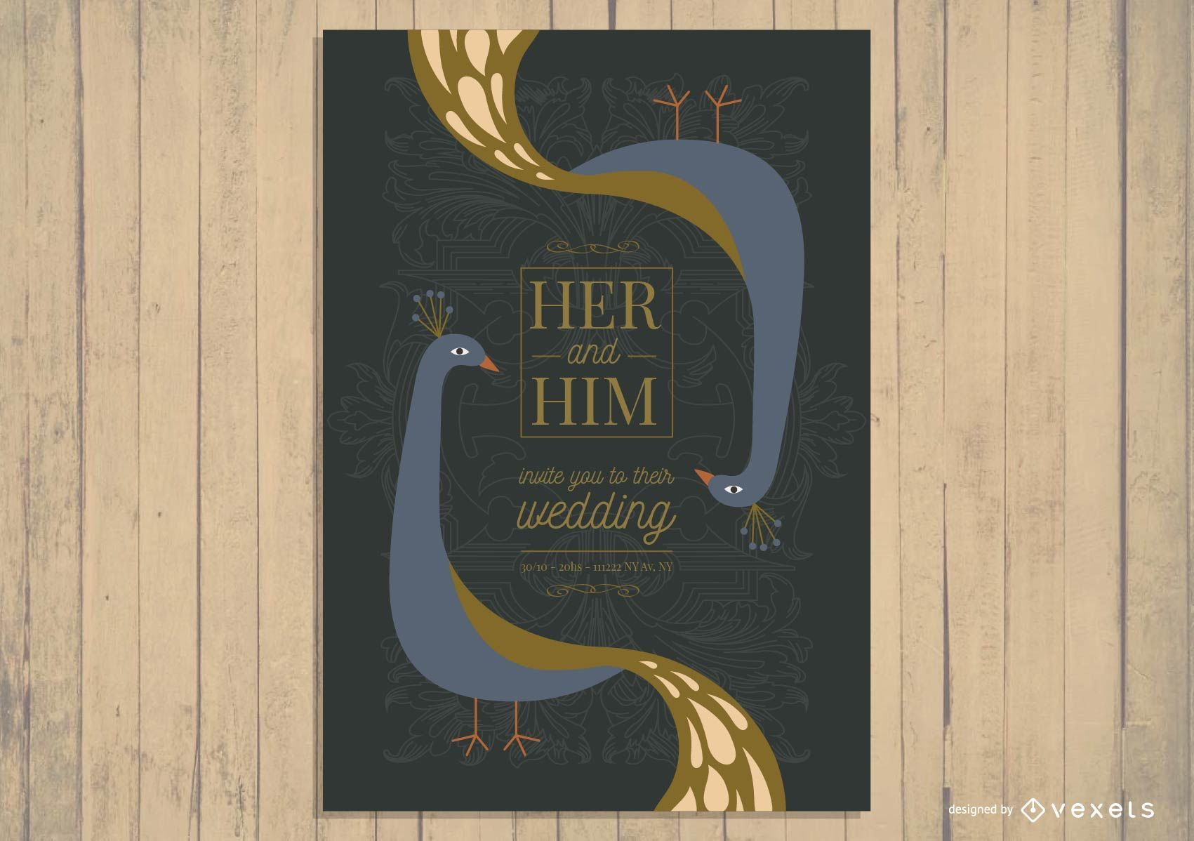 Asian Wedding Card Invitation Design