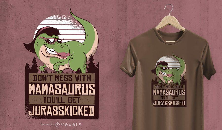 Mamasaurus Mom Dinosaur T-Shirt Design
