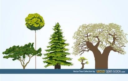 Coleção de árvore de vetor