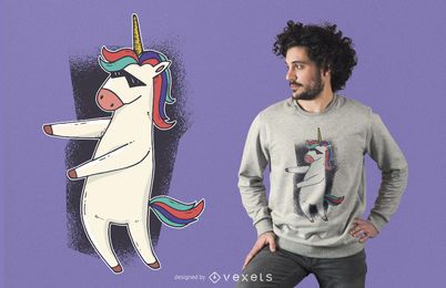 Diseño de camiseta Unicorn Floss Dance