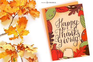Banner de feliz acción de gracias