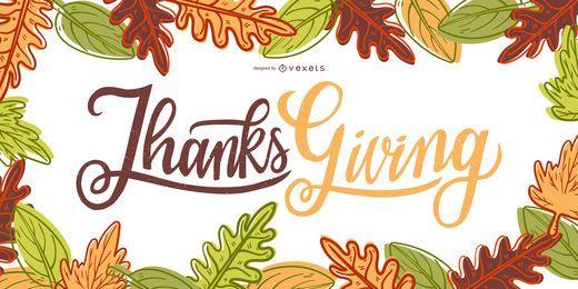 Diseño de banner de acción de gracias