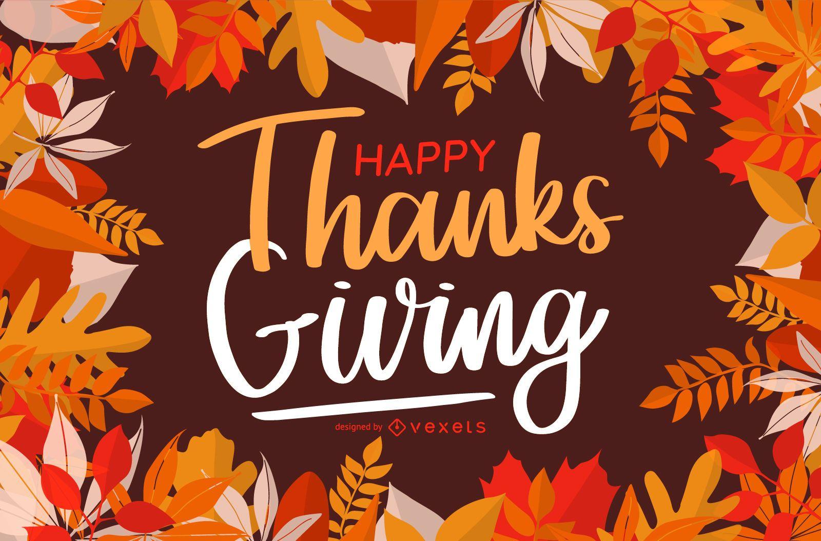 Happy Thanksgiving Greeting Card Design