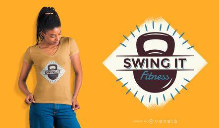 Swing it diseño de camiseta de fitness