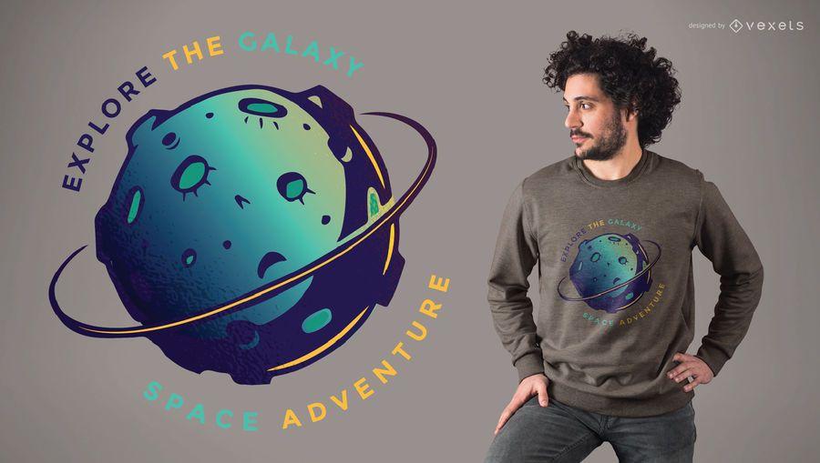 Explora el diseño de la camiseta de la galaxia.