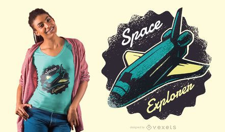 Space explorer shuttle t-shirt design