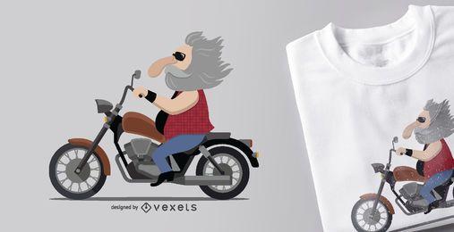 Design de camiseta para motociclismo
