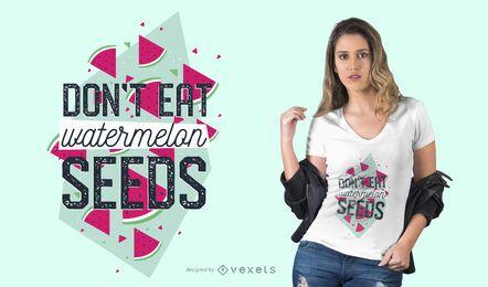 Diseño de camiseta de semillas de sandía