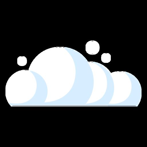 Ícone de previsão de nuvens Transparent PNG