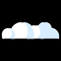 Ilustración del icono de las nubes
