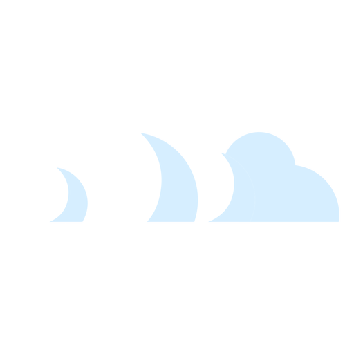 Clouds icon illustration Transparent PNG