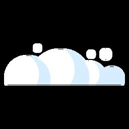 Nuvem de ícone de meteorologia de nuvens