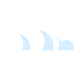 Nuvens nuvem de ícone de meteorologia