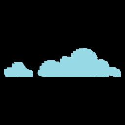 Nuvens de ícone de rabisco de nuvens
