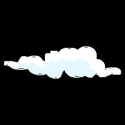 Nuvens de elementos de design de clima nublado