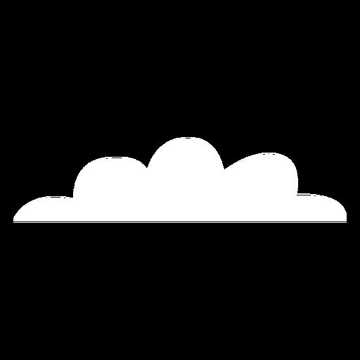 Nuvens planas de tempo nublado Transparent PNG