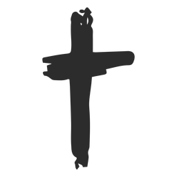 Cross scribble icon christian cross