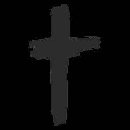 Kreuz kritzeln Symbol christliches Kreuz