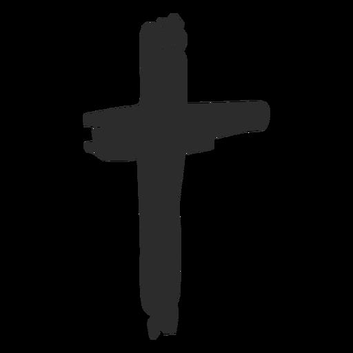 Cruz garabato icono cruz cristiana