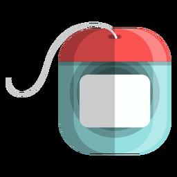 Ícones de banho de ícone de fio dental