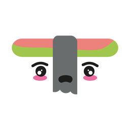 Enttäuschtes kawaii Gesichtssushi-nigiri-Lebensmittel