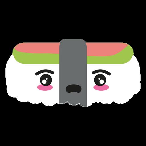 Disappointed kawaii face sushi nigiri food