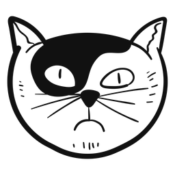 Gato envidia mano gato avatar dibujado a mano