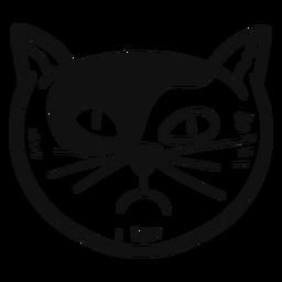 Inveja gato mão desenhada avatar gato