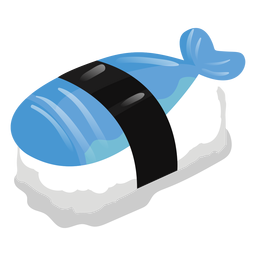 Peixe sushi ícone comida