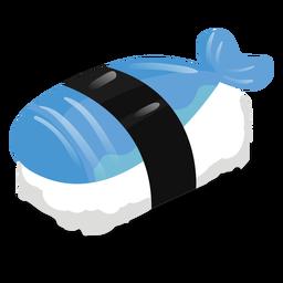 Pescado sushi icono de comida
