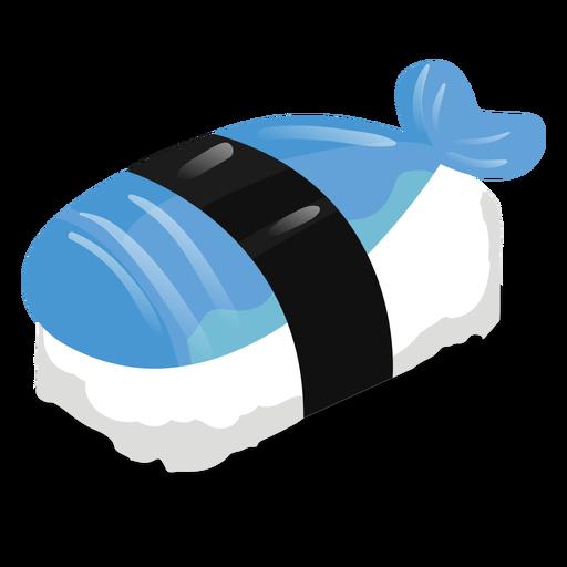 Comida de icono de sushi de pescado