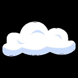 Ilustración de nubes de pronóstico nubes