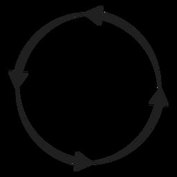 Elemento círculo de cuatro flechas