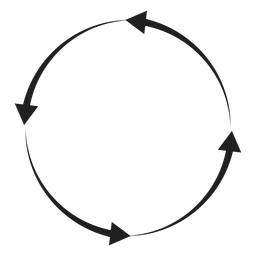 Quatro, setas, círculo, círculo, elemento
