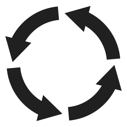 Four thick arrows circle circle element