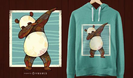 Diseño de la camiseta dabbing panda