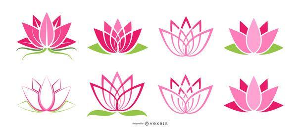 Conjunto de iconos de loto