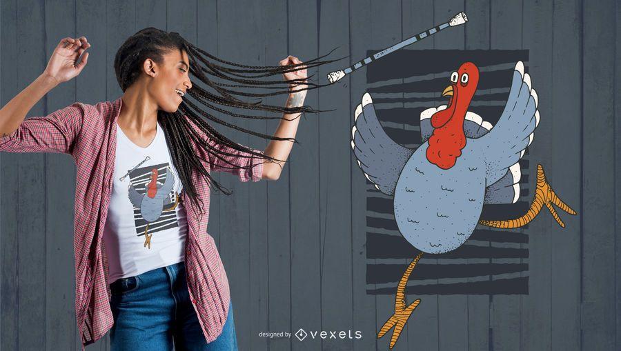 Turkey Baton Twirling t-shirt design