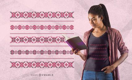 Design de t-shirt padrão romano