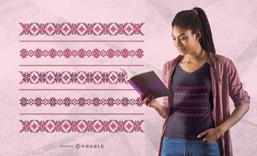 Roman pattern t-shirt design